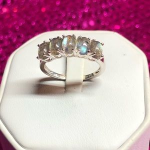 Labradorite Sterling Silver Band Style Ring